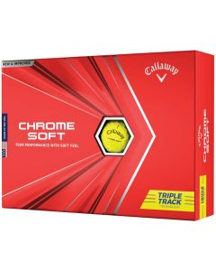 Golf Balls Callaway Chrome Soft Triple Track Yellow Golf Balls Box
