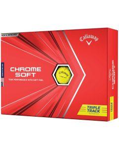 Golf Balls Callaway Chrome Soft Triple Track Yellow Golf Balls Box