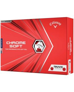 Golf Balls Callaway Chrome Soft Truvis White Golf Balls Box
