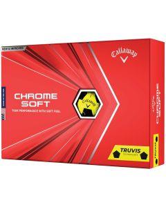 Golf Balls Callaway Chrome Soft Truvis Yellow Golf Balls Box