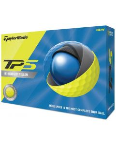 Golf Balls Taylormade Tp5 Yellow Golf Balls Box
