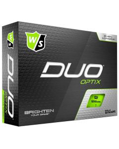 Golf Balls Wilson Staff Duo Optix Green Golf Balls Box