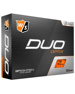 Golf Balls Wilson Staff Duo Optix Orange Golf Balls Box