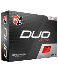 Golf Balls Wilson Staff Duo Optix Red Golf Balls Box