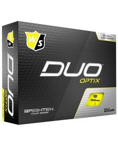 Golf Balls Wilson Staff Duo Optix Yellow Golf Balls Box
