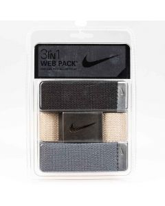 Golf Belt Nike In Web Belt Pack Black Khaki Grey