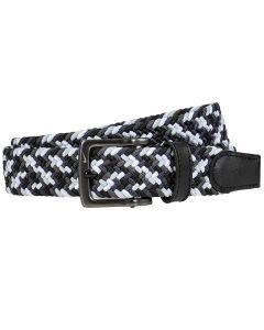 Golf Belt Nike Multi Color Stretch Woven Belt Black White Grey