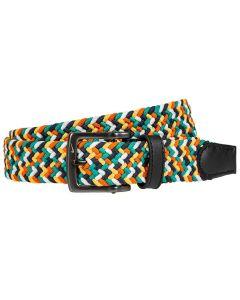 Golf Belt Nike Multi Color Stretch Woven Belt Green Orange Yellow