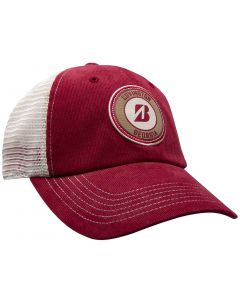 Golf Headwear Bridgestone Control Hat Crimson