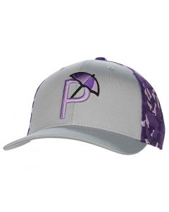 Golf Headwear Puma Arnold Palmer Camo Snapback Hat Grey Purple
