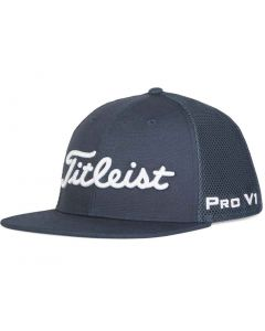 Golf Headwear Titleist Tour Flat Bill Mesh Legacy Hat Navy White