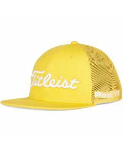 Golf Headwear Titleist Tour Flat Bill Mesh Trend Hat Gold White