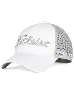 Golf Headwear Titleist Tour Performance Mesh White Hat White Grey