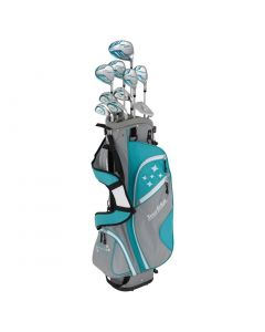 Golf Package Sets Tour Edge Womens Lady Edge Complete Package Set Turquoise Stand Bag