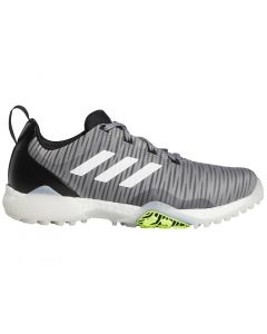 Golf Shoes Adidas Codechaos Golf Shoes Grey Three White Signal Green Profile