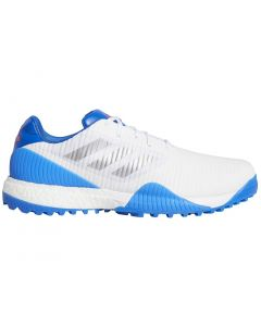 Golf Shoes Adidas Codechaos Sport Golf Shoes White Silver Glory Blue Profile