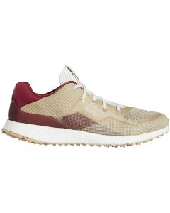 Golf Shoes Adidas Crossknit Dpr Golf Shoes Chalk White Burgundy Profile