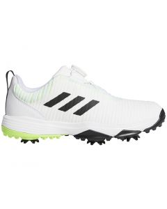 Golf Shoes Adidas Juniors Codechaos Boa Golf Shoes White Black Green Profile