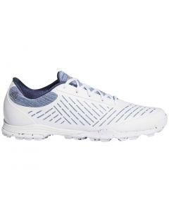 Golf Shoes Adidas Womens Adipure Sport 2 0 Golf Shoes White Silver Blue Profile