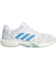 Golf Shoes Adidas Womens Codechaos Primeblue Golf Shoes White Sharp Blue Profile