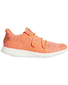Golf Shoes Adidas Womens Crossknit Dpr Golf Shoes Coral Grey Profile