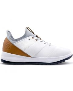 Golf Shoes Athalonz Enve Golf Shoes White Beige Side