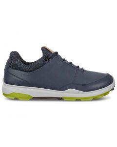 Golf Shoes Ecco Biom Hybrid 3 Gtx Golf Shoes Navy Lime Side