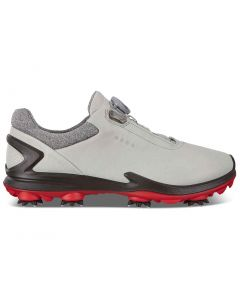 Golf Shoes Ecco Bion G 3 Boa Golf Shoes Grey Red Side