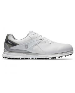 Golf Shoes Footjoy Pro Sl Golf Shoes White Grey Side