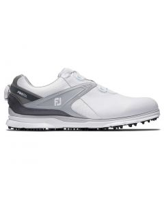 Golf Shoes Footjoy Pro Sl Boa Golf Shoes White Grey Side