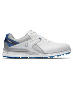 Golf Shoes Footjoy Pro Sl Golf Shoes White Blue Grey Side