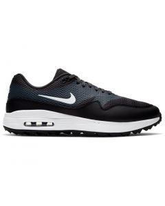 Golf Shoes Nike Air Max 1 G Golf Shoes Black White Anthracite Side