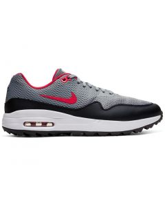 Golf Shoes Nike Air Max 1 G Golf Shoes_particle Grey University Red Side