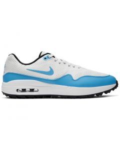Golf Shoes Nike Air Max 1 G Golf Shoes_summit White University Blue Side