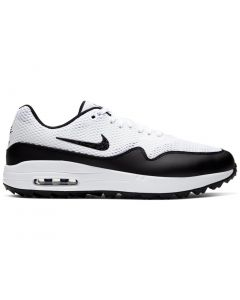 Golf Shoes Nike Air Max 1 G Golf Shoes_white Black Side