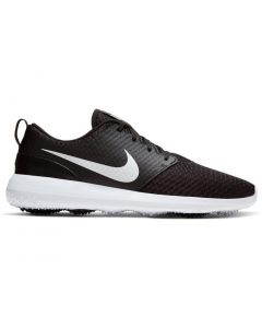 Golf Shoes Nike Roshe G Golf Shoes Black Metallic White Side
