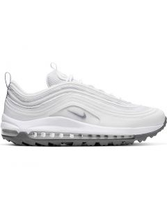 Golf Shoes Nike Unisex Air Max 97 G White Metallic Cool Grey Profile