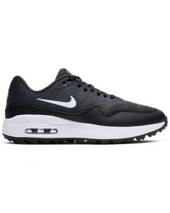 Golf Shoes Nike Womens Air Max 1 G Golf Shoes Black White Side