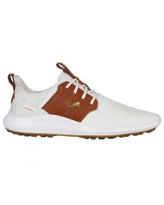 Golf Shoes Puma Ignite Nxt Crafted Golf Shoes White Leather Brown Profile