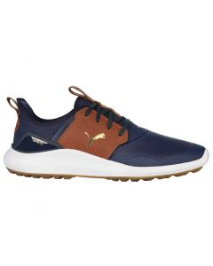 Golf Shoes Puma Ignite Nxt Crafted Peacoat Leather Brown Profile