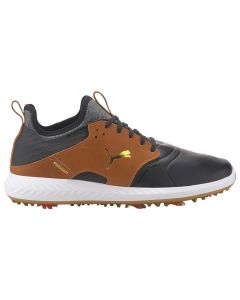 Golf Shoes Puma Ignite Pwradapt Caged Crafted Black Leather Brown Profile