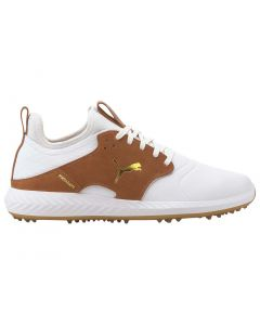 Golf Shoes Puma Ignite Pwradapt Caged Crafted White Leather Brown Profile