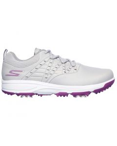 Golf Shoes Skechers Womens Go Golf Pro V2 Golf Shoes Grey Purple Side