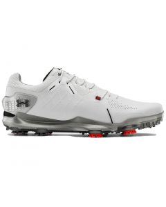 Golf Shoes Under Armour Spieth 4 Gore Tex Golf Shoes White Black Profile
