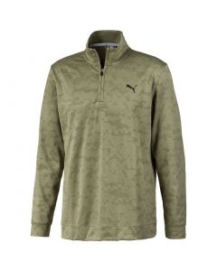 Golf Top Puma Alterknit Digi Camo Pullover Deep Lichen Green