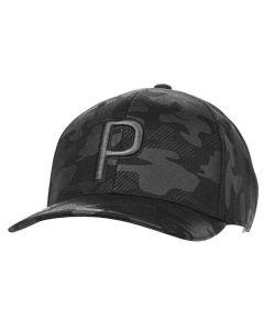 Headwear Puma P Camo Pattern Snapback Black