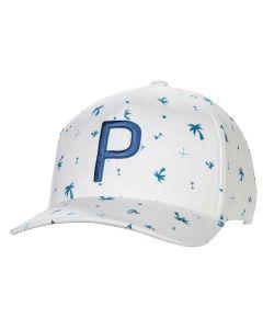 Headwear Puma P Palms Pattern Snapback Digi Blue