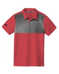 Junior Golf Apparel Adidas Ss20 Boys Gradient Stripe Polo Real Coral