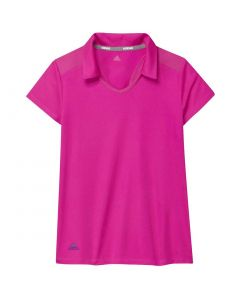 Junior Golf Apparel Adidas Ss20 Girls Fashion Short Sleeve Polo Shock Pink