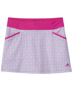 Junior Golf Apparel Adidas Ss20 Girls Print Skort Shock Pink